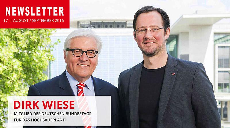 17. Newsletter von Dirk Wiese MdB