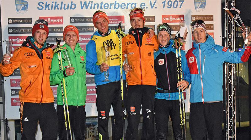 Einzel Sieger beim Warsteiner Alpencup Nordische Kombination in Winterberg