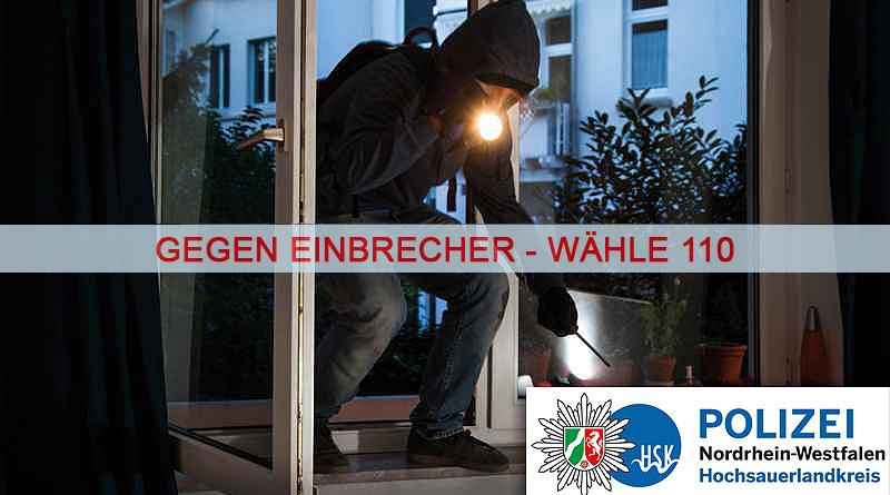 Polizei im HSK bekämpft Wohnungseinbrecher