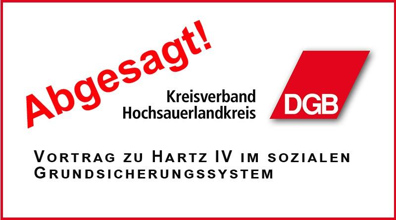 DGB Vortrag zu Hartz IV abgesagt